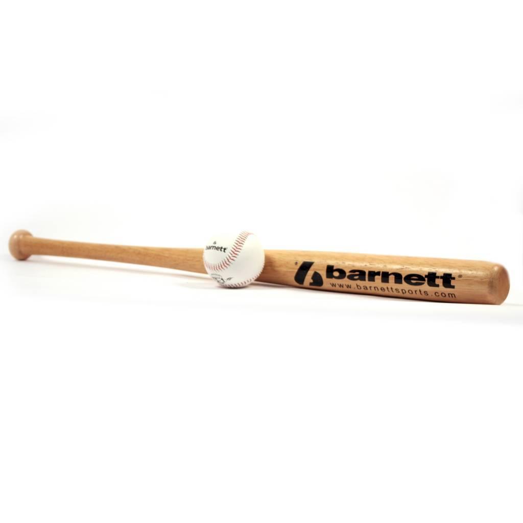 barnett BBWO-3 Zestaw baseballowy, Youth, drewniany kij, piłka (BB-W 24, BS-1)