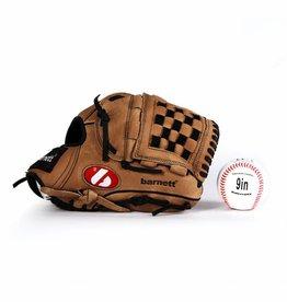 barnett GBSL-2 Zestaw baseballowy, Senior, piłka, rękawica, skóra (SL-120, LL-1)