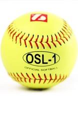 "barnett OSL-1 Turniejowa piłka Softballowa, rozmiar 12"", biała,12 sztuk"