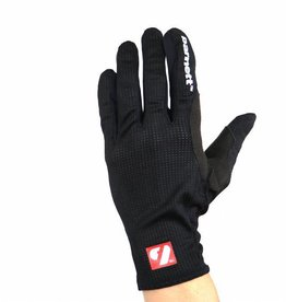NBG-18  Gloves for Rollerski - cross-country - road bike - running - Black