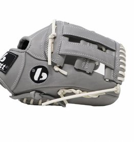 "Barnett FL-117 high quality baseball and softball glove, leather, infield / fastpitch 11.7"", light grey"