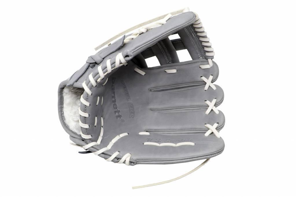 "FL-117 high quality baseball and softball glove, leather, infield / fastpitch 11.7"", light grey"