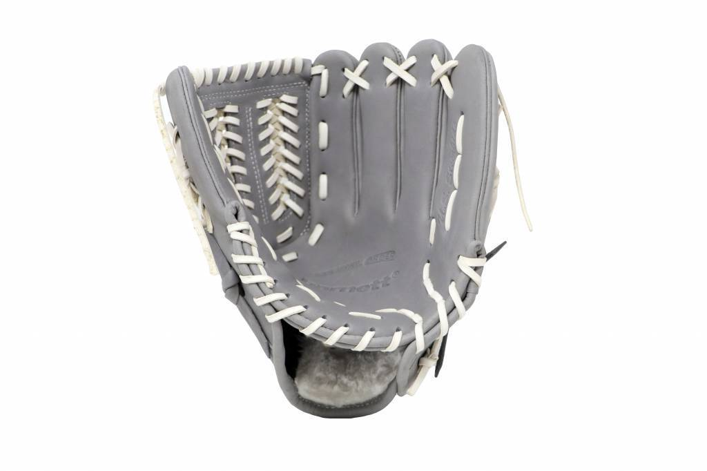 "FL-120 high quality, leather baseball glove, infield/outfield / pitcher 12"", light grey"