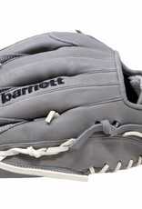 "Barnett FL-125 "" high quality leather baseball glove, infield / outfield / pitcher, light grey"