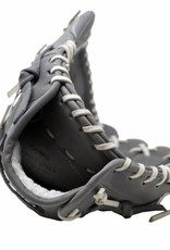 """FL-127 """" high quality leather baseball glove, infield / outfield / pitcher, light grey"""