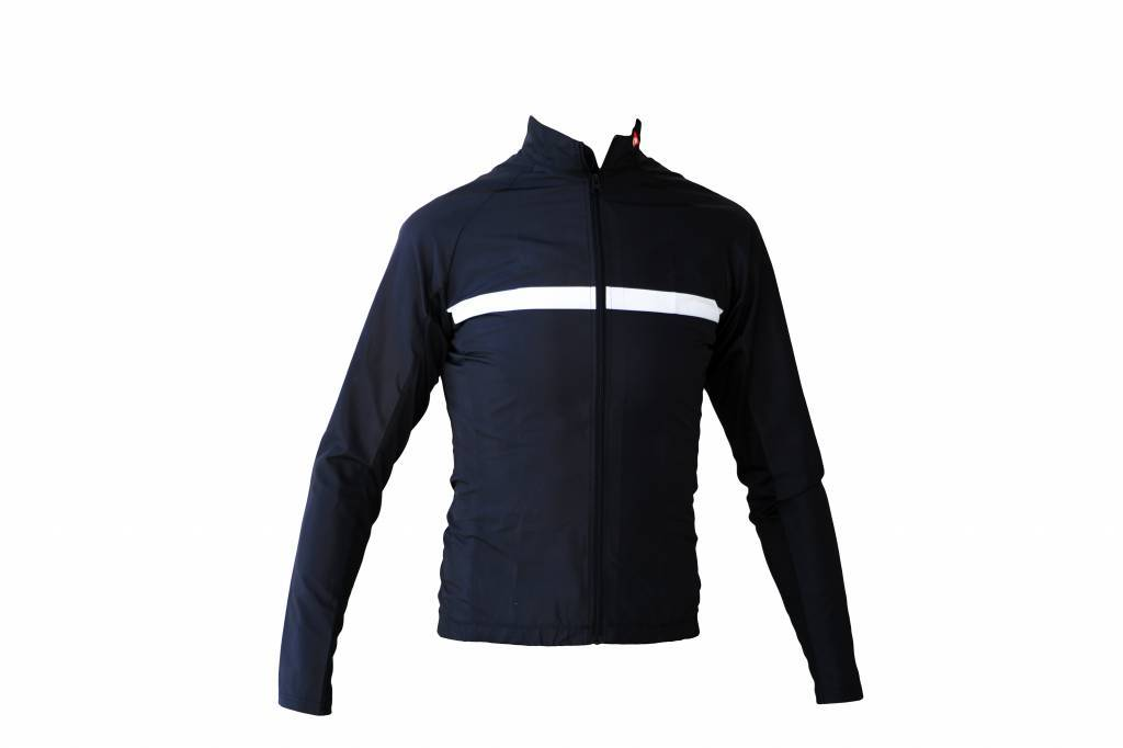 Bike textile - long sleeved Jacket, windproof black&white - Copy