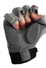 FLGC-02 New generation linemen football gloves, short fingers,, OL,DL, grey