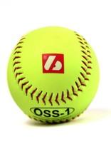 "OSS-1 Practice softball ball, size 12"", yellow, 2 pieces"