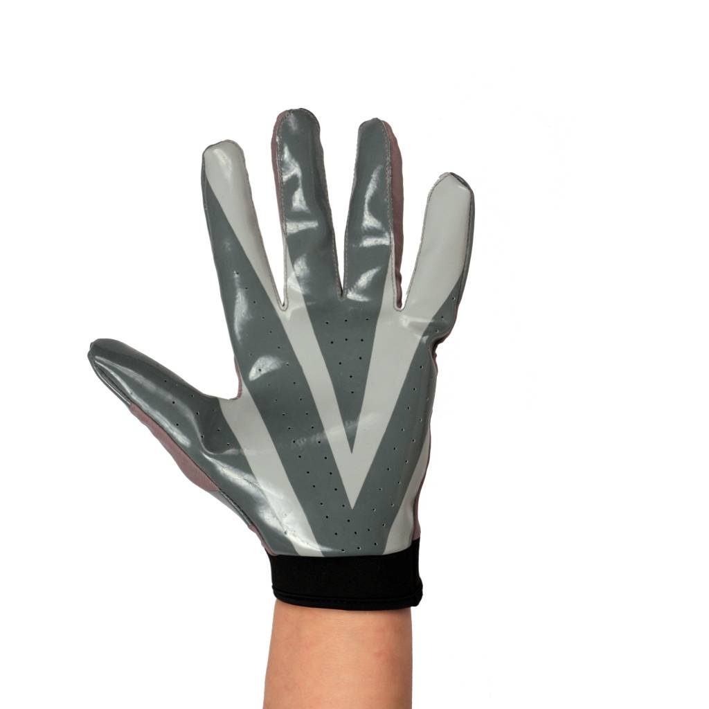 FRG-03 The best receiver football gloves, RE,DB,RB, grey
