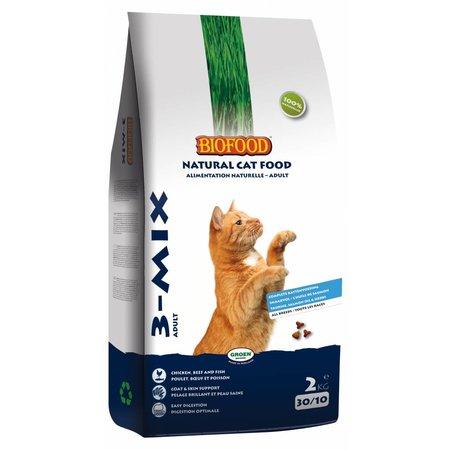 Biofood Kattenvoer 3-mix 2 kg