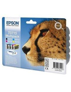 Epson T0715 Zwart en Kleur (4-Pak) (Origineel)