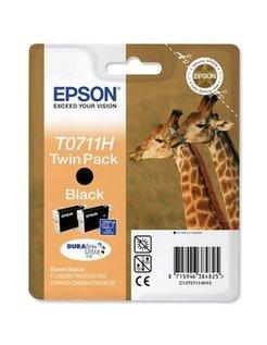 Epson T0711H Zwart (2 Pack) (Origineel)