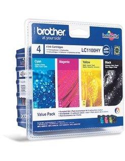 Brother LC-1100 XL Zwart en Kleur (4-Pack) (Origineel)