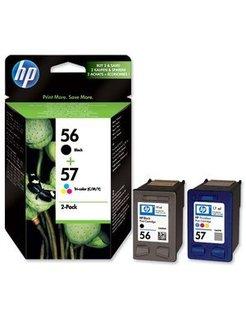 HP 56+57 Zwart en Kleur (2 Pack) (Origineel)