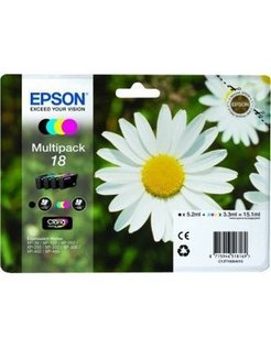 Epson 18/T1806 Zwart en Kleur (4-Pack) (Origineel)