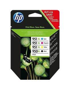 HP 950 XL/951 XL Zwart en Kleur (4-Pack) (Origineel)