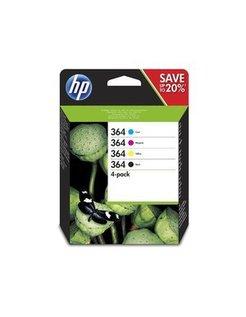 HP 364 Multipack Zwart en Kleur (4-Pack)