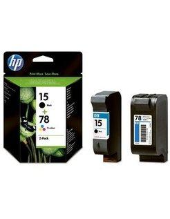 HP 15 / 78 originele ink cartridge zwart en drie kleuren sta
