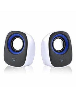 EW3513 Stereo portable speaker 5W Zwart, Blauw, Wit draagbare luidspreker