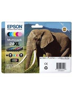 Epson 24 XL Zwart + 5 Kleuren (Origineel)