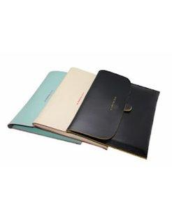 M.Humming Lederen Envelop Sleeve Soft Zwart voor iPad EV87102