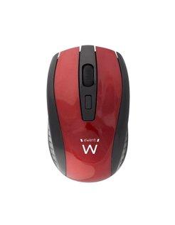 EW3237 RF Draadloos Optisch 1600DPI Ambidextrous Zwart, Rood muis