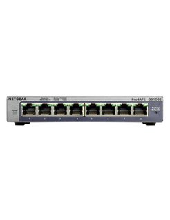 ProSAFE Unmanaged Plus Switch - GS108E - 8 Gigabit Ethernet poorten