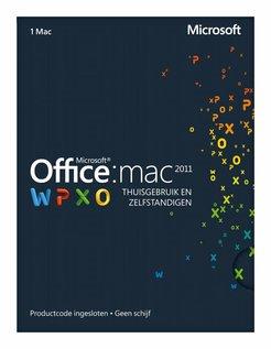 Office 2011 Thuisgebruik en Zelfstandigen NL MAC