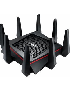 ASUS RT-AC5300 Tri-band (2.4 GHz / 5 GHz / 5 GHz) Gigabit Ethernet Zwart, Rood draadloze router