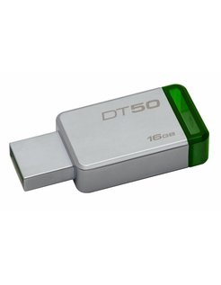 Technology DataTraveler 50 16GB USB flash drive 3.0 (3.1 Gen 1) USB-Type-A-aansluiting Green,Silver