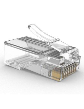 borca EZ-RJ45 Network Cable Modular 8P8C Connector Open End Pass Through 50 Pcs CAT6 Plug EZ RJ45