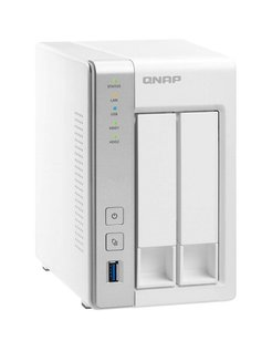 QNAP TS-231P data-opslag-server Ethernet LAN Desktop Grijs, Wit NAS