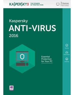 Lab Anti-Virus 2016 Base license 3gebruiker(s) 1jaar