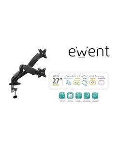 """EW1516 flat panel bureau steun 68,6 cm (27"""") Klem/doorvoer Zwart"""