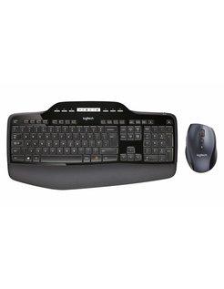 MK710 RF Draadloos QWERTY US International Zwart toetsenbord