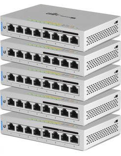 Networks UniFi 5 x Switch 8 Beheerde netwerkswitch Gigabit Ethernet (10/100/1000) Power over Ethernet (PoE) Grijs