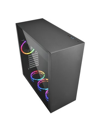 Sharkoon Case Pure Steel RGB Zwart