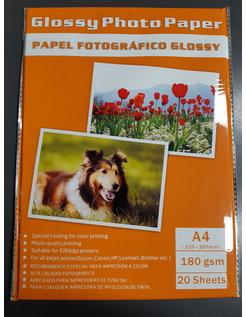 Glossy Foto Papier Inkjet A4 180gr 20vel