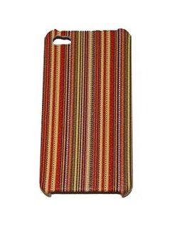 Hard Case Stripes Colorful Geel voor Apple iPhone 4