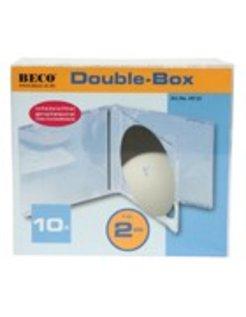 10 Dubbele CD doosjes met transparante trays BEC0102