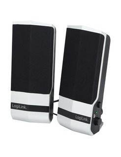 Logilink SP0026 Active Speaker 2.0 Stereo, Black silver