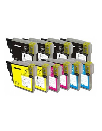 Multi-Pack Inkt Cartridges voor Brother LC-980/1100 AB-L1100X-10