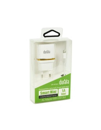 Durata Lightning Fast Charge & Data Cable USB For iPhone 5,6 and iPad Mini/Air DR-01I