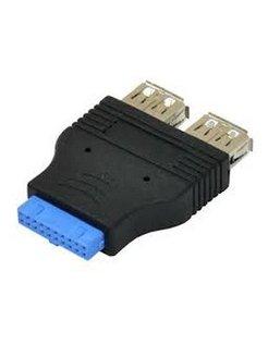 USB 3.0 19Pin Header to 2x USB A Female Adapter [CAB-USB3-19P-2F/F]