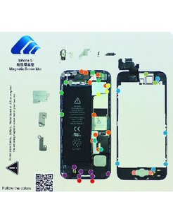 Replacement iFixit Magnetic Screw Mat For Apple iPhone 5 Repairs [AIP-5-OT01]