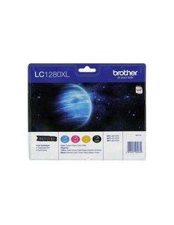 Brother LC-1280XL Zwart en Kleur (4 Pack) (Origineel)