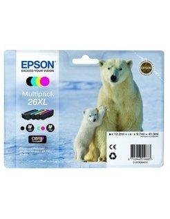 Epson 26XL/T2636 Zwart en Kleur (4 Pack) (Origineel)