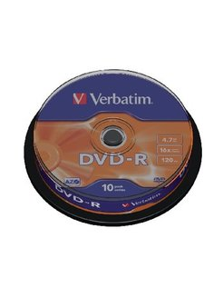 DVD-R Verbatim 16x 4.7GB Spindle (10) VER7438