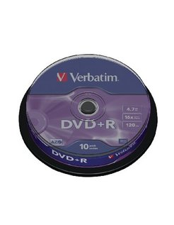DVD+R Verbatim 16x 4.7GB Spindle (10) VER7422