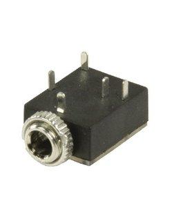 3,5 mm stereo jack chassis vrouwelijk zwart 5 stuks